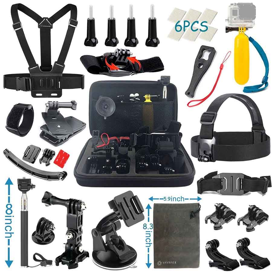 Vanwalk Gopro Accessories Kit